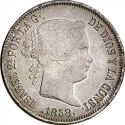 Монета > 20реалов, 1856-1864 - Испания  - obverse