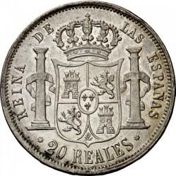 Монета > 20реалов, 1856-1864 - Испания  - reverse