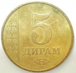 Кованица > 5дирама, 2017-2019 - Таџикистан  - obverse