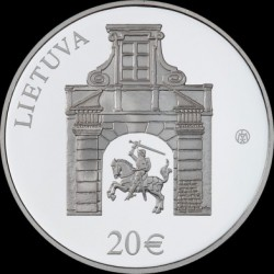 Coin > 20 euro, 2017 - Lithuania  (Radziwiłł Palace, Vilnius) - obverse