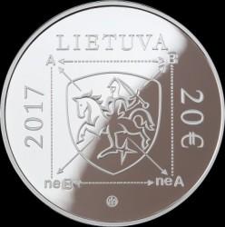 Moneda > 20euros, 2017 - Lituania  (100 Aniversario - Nacimiento de Algirdas Julien Greimas) - obverse