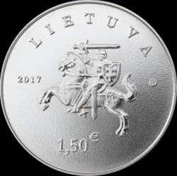 Moneda > 1½euros, 2017 - Lituania  (Lithuanian Hound and Samogitian Horse) - obverse