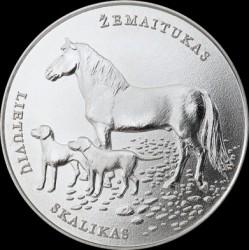 Moneda > 1½euros, 2017 - Lituania  (Lithuanian Hound and Samogitian Horse) - reverse
