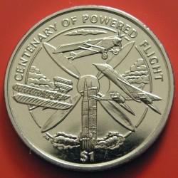 Moneda > 1dólar, 2003 - Islas Vírgenes Británicas  (100th Anniversary - Powered Flight) - reverse