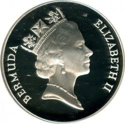Moneta > 5dolarów, 1993 - Bermudy  (Featon żółtodzioby) - obverse