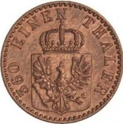 Moneda > 1penique, 1861-1873 - Prusia  - obverse