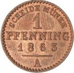 Moneda > 1penique, 1861-1873 - Prusia  - reverse