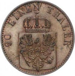Moneda > 4pfennig, 1861-1871 - Prusia  - obverse