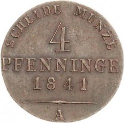 Монета > 4пфенига, 1841-1842 - Прусия  - reverse