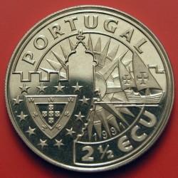 מטבע > 2½אקו, 1991 - פורטוגל  (Europe and the New World - Henry the Navigator) - obverse