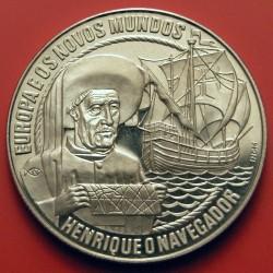 מטבע > 2½אקו, 1991 - פורטוגל  (Europe and the New World - Henry the Navigator) - reverse