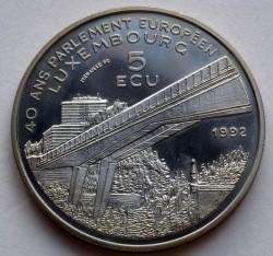 Moneta > 5ECUs, 1992 - Lussemburgo  (Carlo IV) - obverse