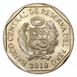Монета > 1соль, 2018 - Перу  (Горный тапир (Tapirus pinchaque)) - obverse