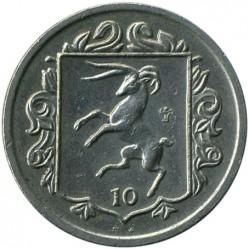 Кованица > 10пенија, 1985-1987 - Острво Мен  - reverse