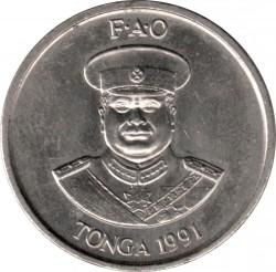 Монета > 10сенити, 1981-1996 - Тонга  - obverse