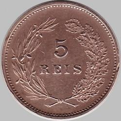 Кованица > 5реиса, 1910 - Португал  - reverse