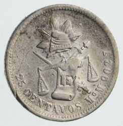 Moneda > 25centavos, 1869-1892 - México  - obverse
