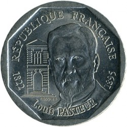 Coin > 2francs, 1995 - France  (100th Anniversary - Death of Louis Pasteur) - obverse