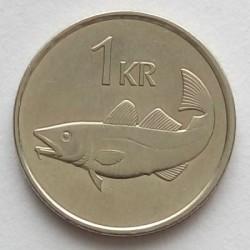 Mynt > 1krona, 1991 - Island  - reverse