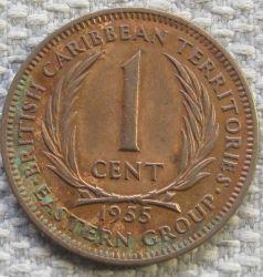 Νόμισμα > 1Σέντ, 1955-1965 - Ανατολική Καραϊβική  - reverse