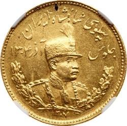 Moneda > 5pahlavi, 1927-1929 - Iran  - obverse