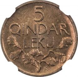 Кованица > 5киндарлека, 1926 - Албанија  - reverse