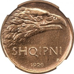 سکه > 10کیندارلکو, 1926 - آلبانی  - obverse