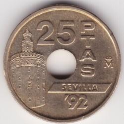 Монета > 25песети, 1992 - Испания  (Expo'92 Sevilla /Globe/) - obverse