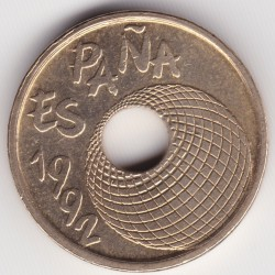 Монета > 25песети, 1992 - Испания  (Expo'92 Sevilla /Globe/) - reverse