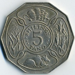 Монета > 5шилінгiв, 1972-1980 - Танзанія  - reverse
