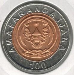 Coin > 100francs, 2007 - Rwanda  - obverse