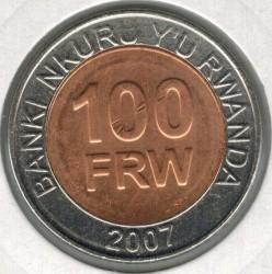 Coin > 100francs, 2007 - Rwanda  - reverse