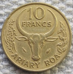 錢幣 > 10法郎, 1980 - 馬達加斯加  - obverse