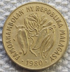 錢幣 > 10法郎, 1980 - 馬達加斯加  - reverse