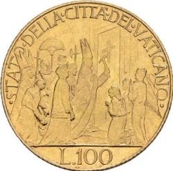 Moneta > 100lirów, 1950 - Watykan  - reverse