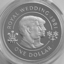 Moneta > 1dolar, 1981 - Bermudy  (Ślub Księcia Karola i Księżnej Diany) - reverse