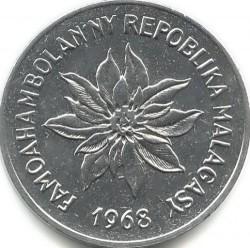 錢幣 > 5法郎, 1966-1989 - 馬達加斯加  - obverse
