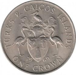 Монета > 1крона, 1969 - Острови Теркс і Кайкос  - reverse