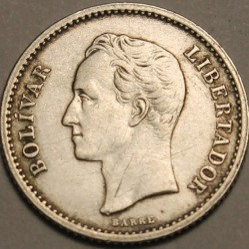Münze > ⅕Bolivares, 1894-1948 - Venezuela  - obverse