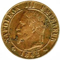 Moneta > 1centesimo, 1861-1870 - Francia  - obverse