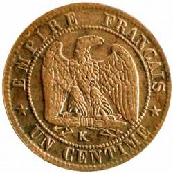 Moneta > 1centesimo, 1861-1870 - Francia  - reverse