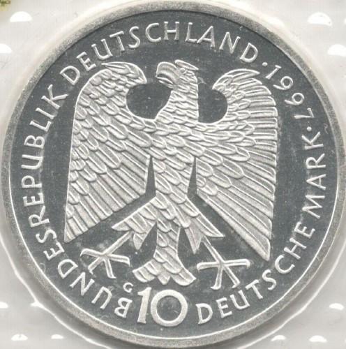 10 Mark 1997 Heinrich Heine Deutschland Münzen Wert Ucoinnet