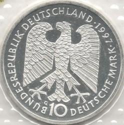 Moneda > 10marcos, 1997 - Alemania  (200avo Aniversario - Del nacimiento de Heinrich Heine) - obverse