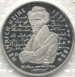Moneda > 10marcos, 1997 - Alemania  (200avo Aniversario - Del nacimiento de Heinrich Heine) - reverse