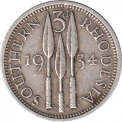 Монета > 3пенса, 1932-1936 - Південна Родезія  - reverse