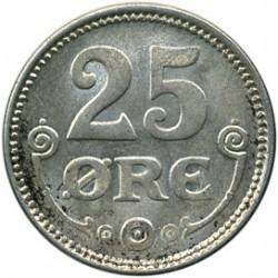 Moneda > 25öre, 1913-1919 - Dinamarca  - reverse