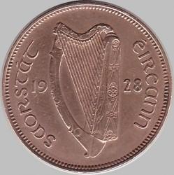 Moneda > ½penny, 1928-1937 - Irlanda  - obverse