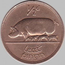 Кованица > ½пенија, 1928-1937 - Ирска  - reverse