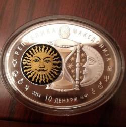Moneta > 10denarów, 2014 - Macedonia  (Koziorożec) - obverse