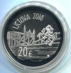 Moneta > 20euro, 2018 - Litwa  (150 rocznica urodzin - Vydūnas) - obverse